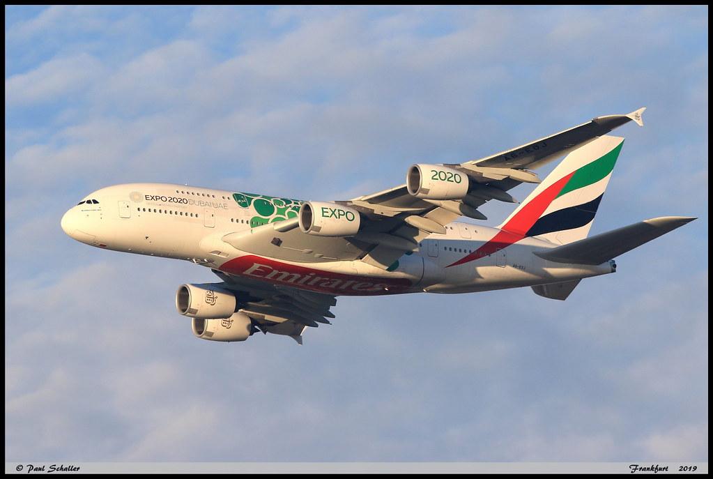 AIRBUS A380 861 EMIRATES A6-EOJ 182 Frankfurt décembre 2019