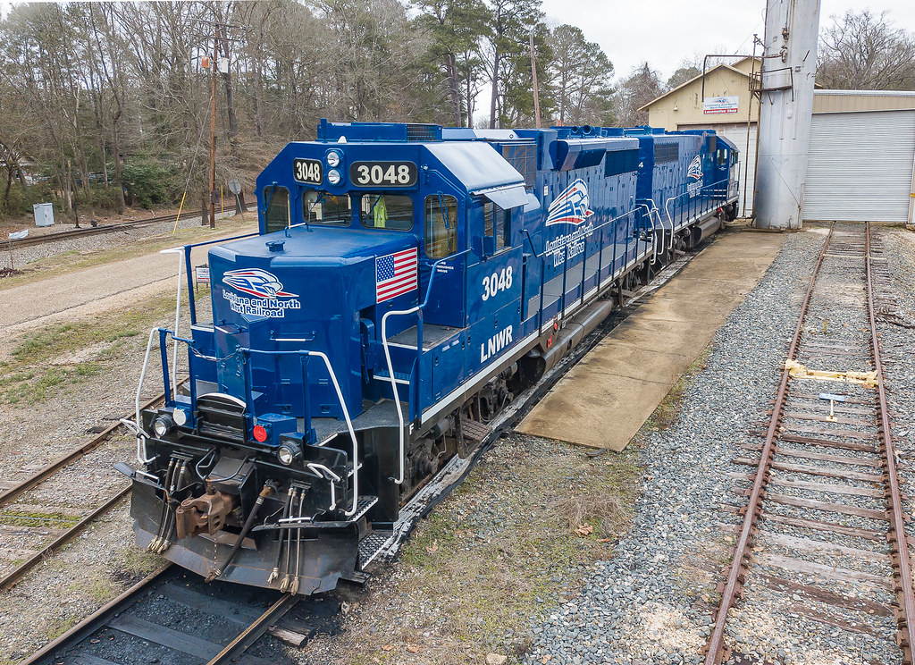 Louisiana & Northwest Railroad LNWR 3048 (GP38-3) Gibsland, Louisiana