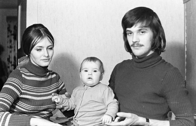 Altes DDR Foto 70er Jahre - Junge Familie