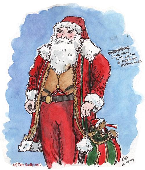 Santa at avid Reader Active, Davis sm