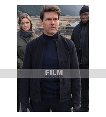 MISSION IMPOSSIBLE 6 TOM CRUISE BLACK SUEDE JACKET