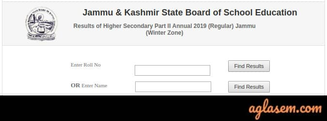 JKBOSE 12th Annual Result 2019 Jammu Division Winter Zone Name Wise