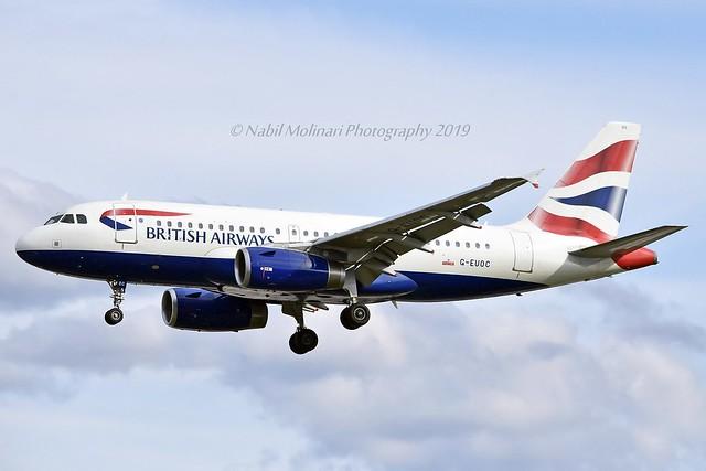 British Airways G-EUOC Airbus A319-131 cn/1537 @ LSGG / GVA 13-08-2019