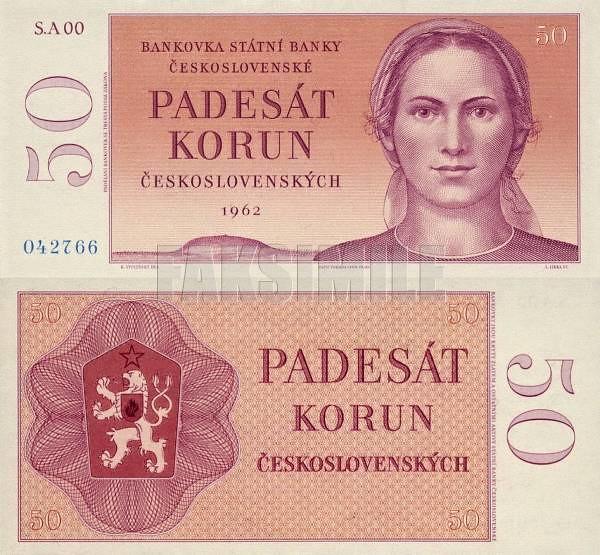 50 korún Československo 1962 nevydaná - REPLIKA
