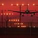 LAX Dusk Landing Lights