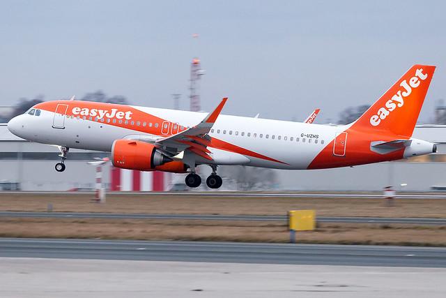 G-UZHS easyJet Airline A320neo Prague Airport