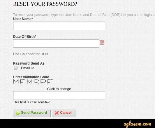 ISI Admit Card login