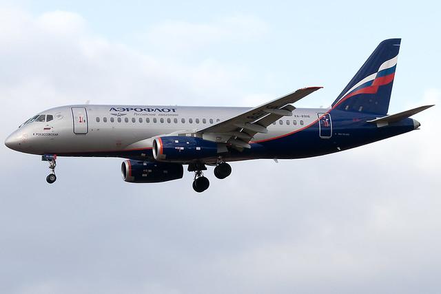 RA-89116 Aeroflot Russian Airlines Sukhoi Superjet 100 Prague Airport