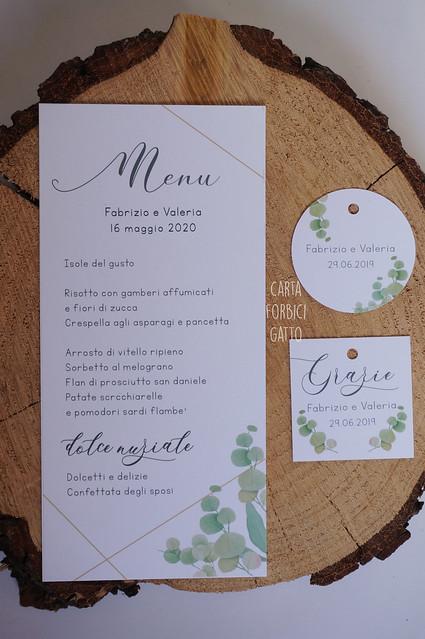 Partecipazioni matrimonio menù bomboniere Green Vellum (Padova Veneto online)