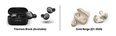 The Jabra Elite 75t will be available in two colours – Titanium Black and Gold Beige.