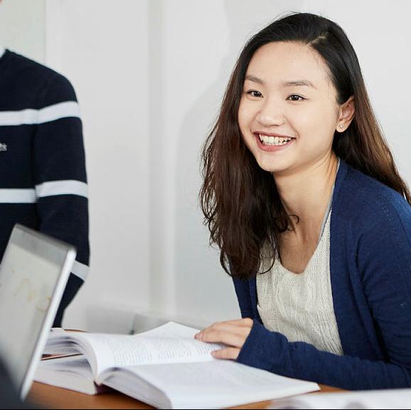 A student in a seminar.