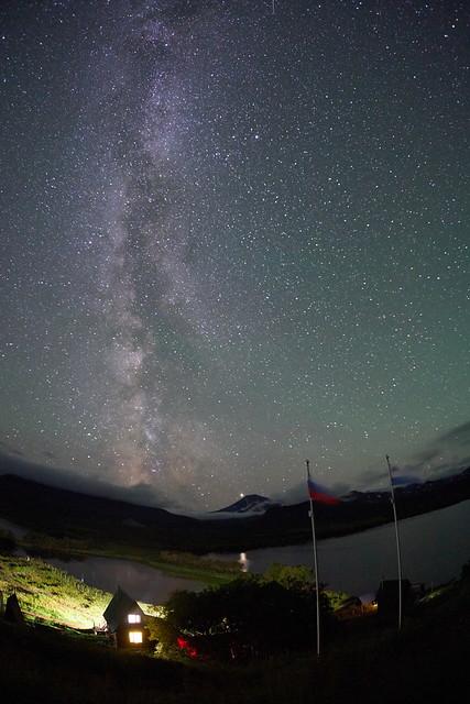 Млечный путь над Камбальным вулканом (Milky Way over Kambalny volcano)