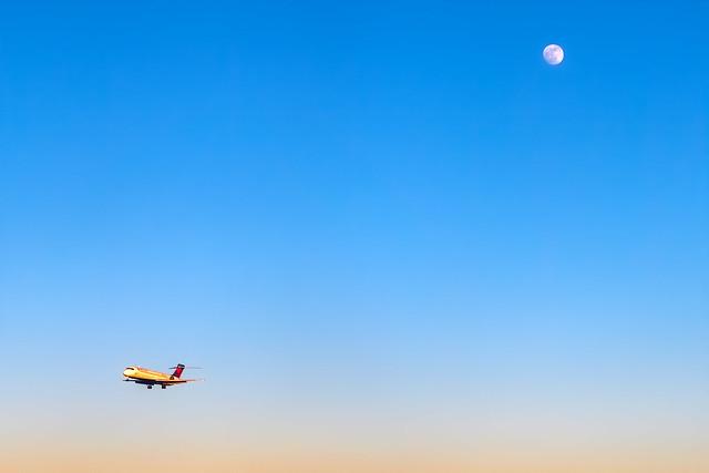 Moon & Airplane