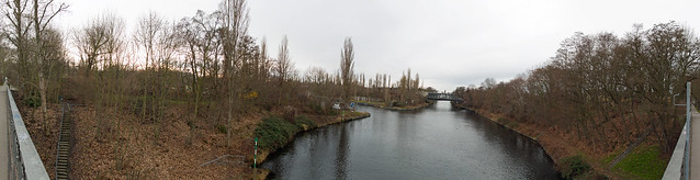 Berlin Teltowkanal  Panorama 14.1.2020