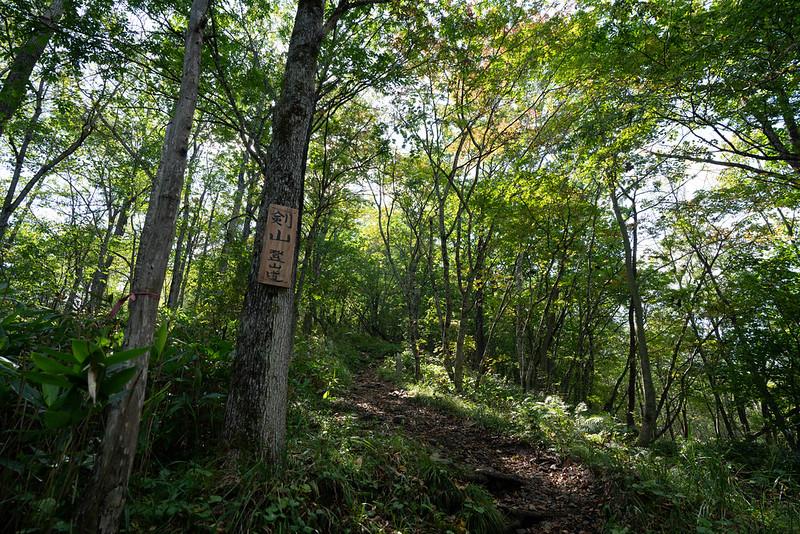 剣山(北海道)の登山口