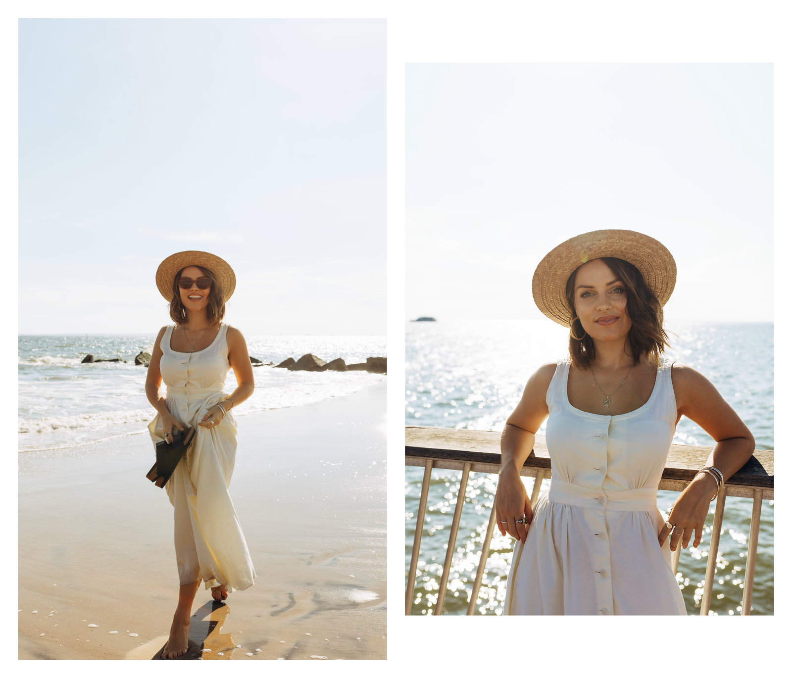 The Little Magpie Coney Island Vintage White Dress