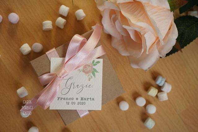 Partecipazioni matrimonio Shabby Rose 2020 (Padova Veneto online) bomboniere portaconfetti