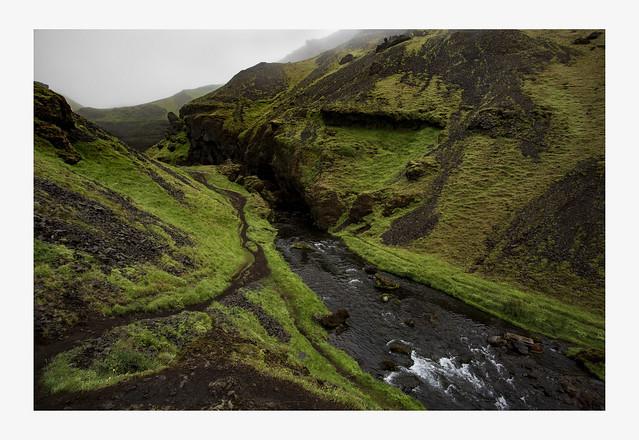 Walk in Kvernfoss Iceland