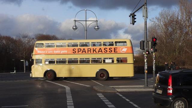 1964 Trampelwagen genannter Doppeldeckerbus Büssing D2U von Orenstein & Koppel in Berlin BVG-Nr. 1629 in 10557 Berlin