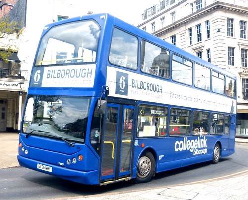 GX55 NHY 'Skills Coaches', Nottingham '6 Bilborough Sixth Form College'. Volvo B7TL / East Lancs Vyking on Dennis Basford's railsroadsrunways.blogspot.co.uk'