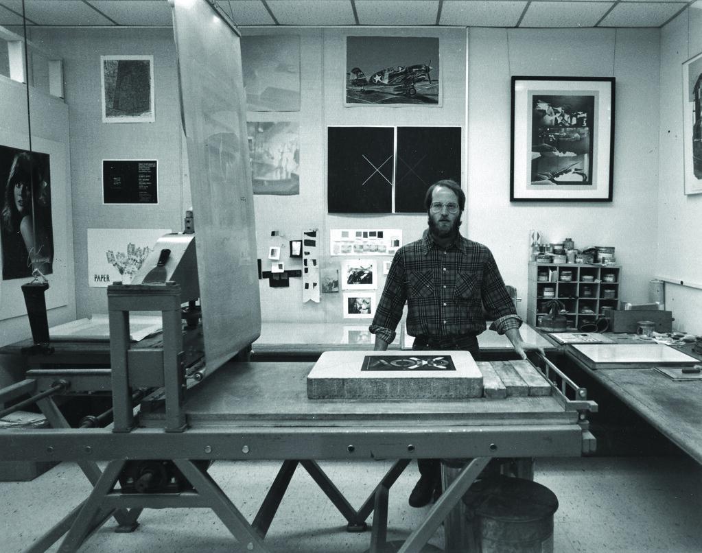 Richard Finch at the press, 1980