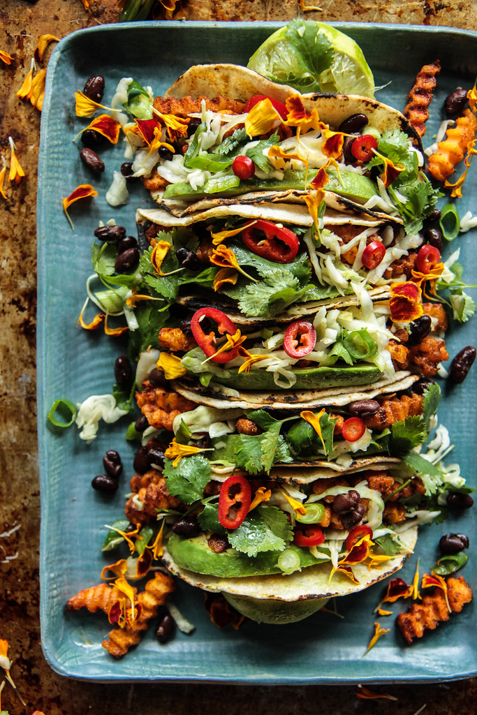 Spiced Butternut Squash tacos (Vegan and Gluten-free) from HeatherChristo.com