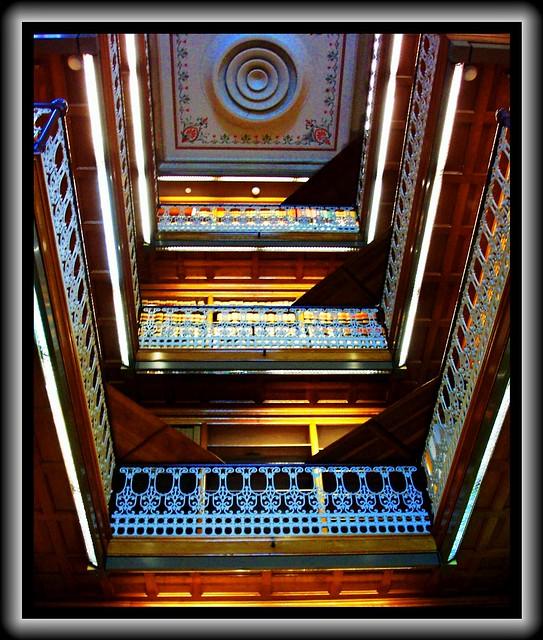 Des Moines  Iowa - State Capitol Library Interior - HIstoric