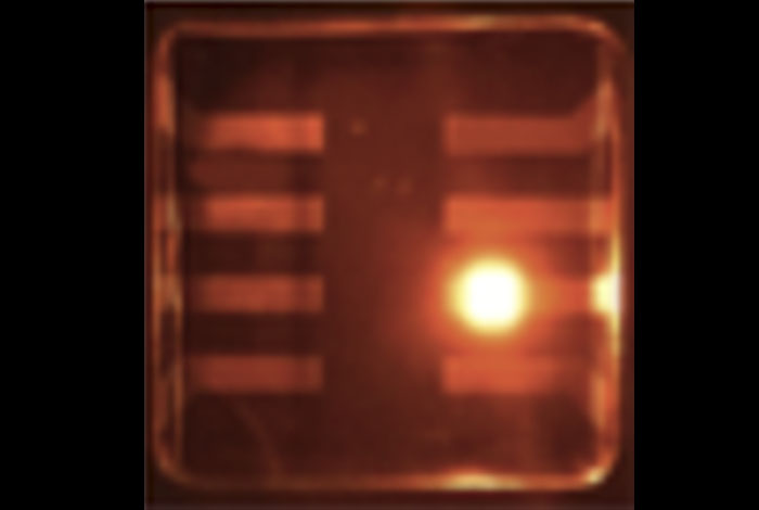 Colloidal quantum dots operationg in LED mode.