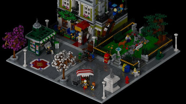 Lego Modular Expansion Pack with the Parisian Restaurant 10243