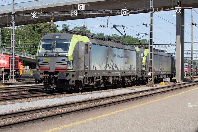 BLS Re 475 401 + 475 413 Basel Rbf