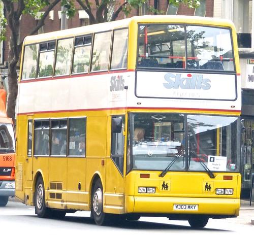 W303 MKY 'Skills Coaches', Nottingham. Scania N113DRB / East Lancs Cityzen on Dennis Basford's railsroadsrunways.blogspot.co.uk'