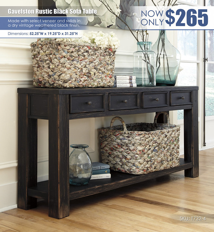 Gavelston Rustic Black Sofa Table_T732-4