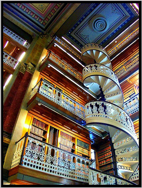 Des Moines Iowa - State Capitol Building - Library Spiral Staircase