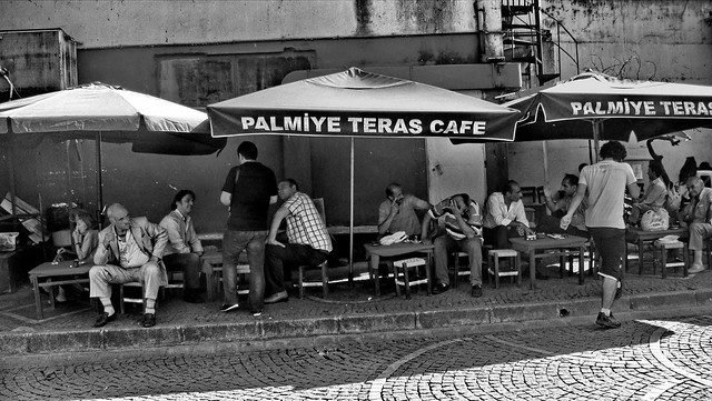 Men sitting at Palmiye Teres Cafe