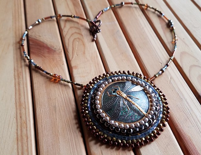 Glass Dragonfly Necklace
