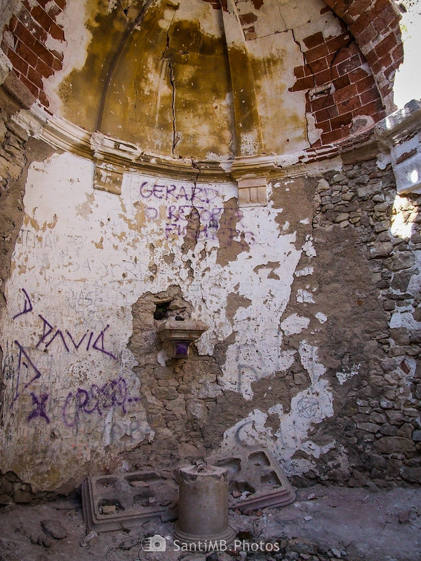 Interior de Sant Salvador de la Mussara en el 2009