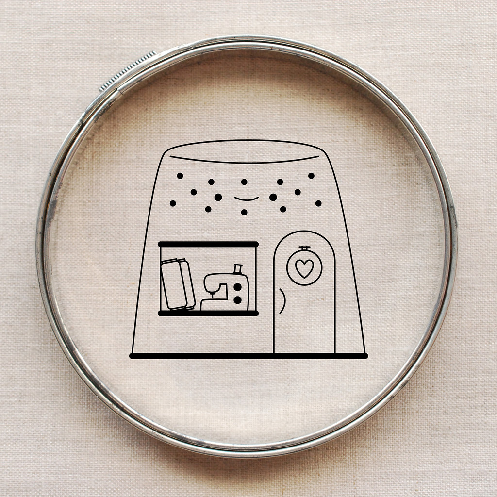 Golden Thimble Sewing Shop Embroidery Pattern