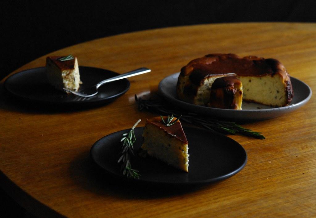 rosemary orange blossom basque cheesecake