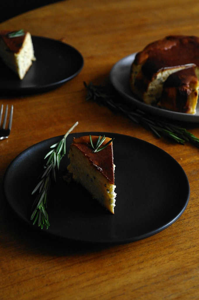 rosemary orange blossom basque cheesecake