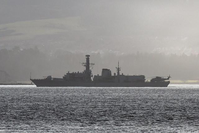 RN Type-23 (Duke-class) frigate HMS Westminster, F237; Firth of Clyde, Scotland