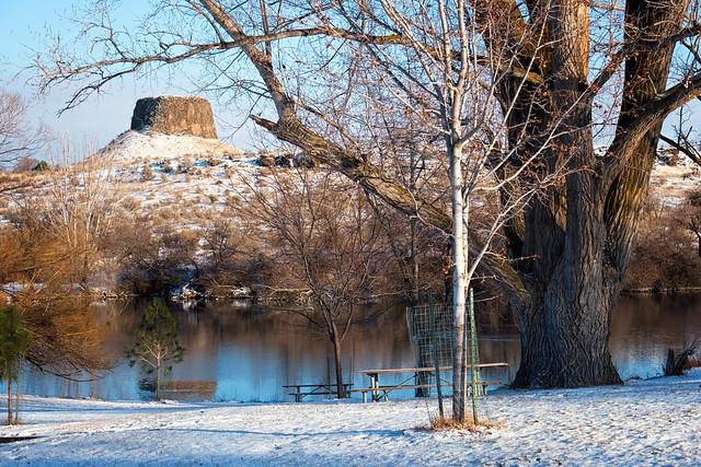 Hat Rock in Winter