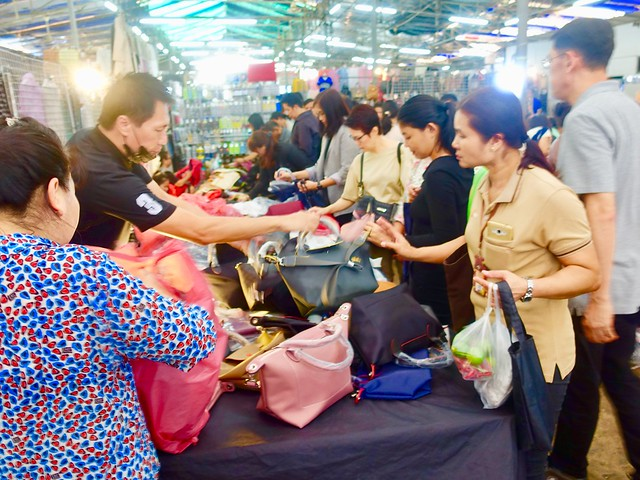 Paying cash - for bargain handbags
