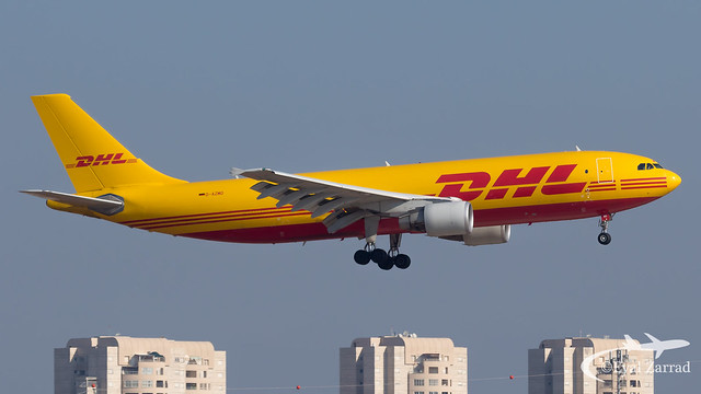 TLV - DHL Airbus A300-600 Freighter D-AZMO