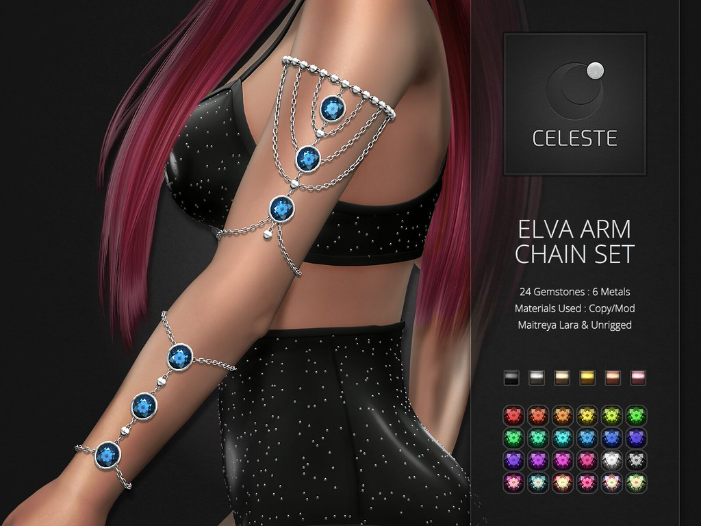 Celeste – Elva Arm Chains Set