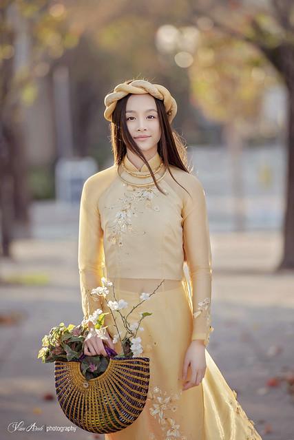 Vietnamese Fashion Model Ao Dai Viet Nam Traditional Dress