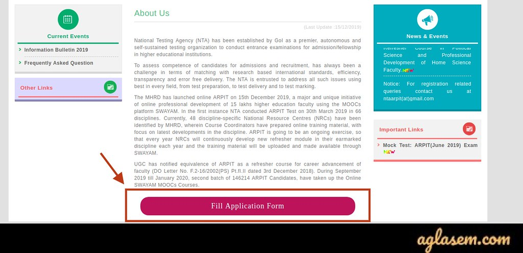 Fill the application form by click on that