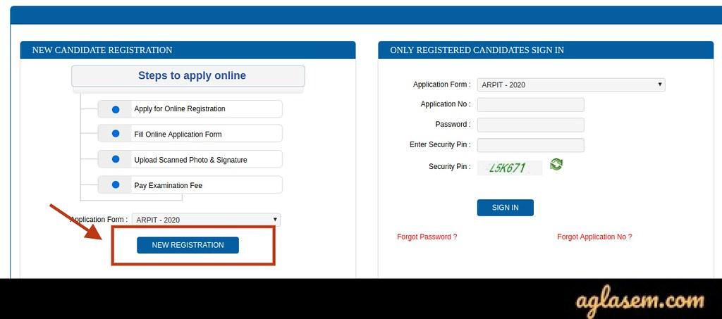 New registration button step