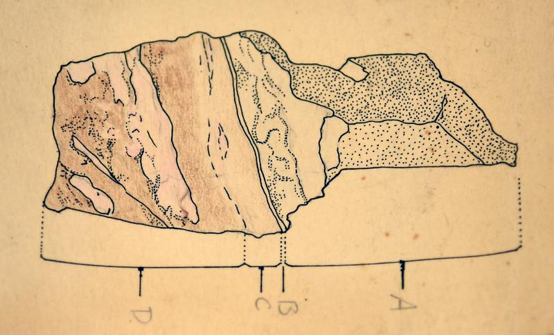 加納輝石鉱石のスケッチ