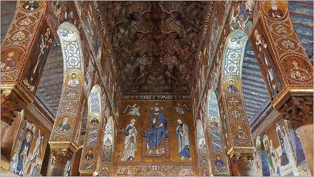 La Chapelle Palatine, Palais des Normands, Palerme, Sicile, Italie