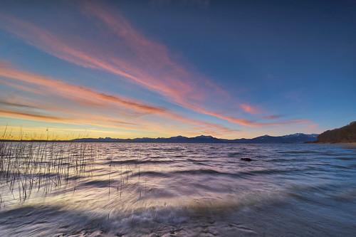 malerwinkel chiemsee morgenstimmung sonnenaufgang winter